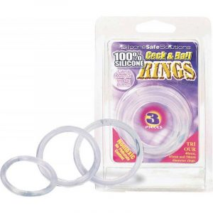 Cock & Ball rings - clear